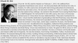 Gung Gung's Obituary